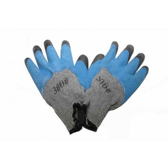 Manusi de protectie universale albastre cu degete negre cu mansete elastice din material textil si cauciuc